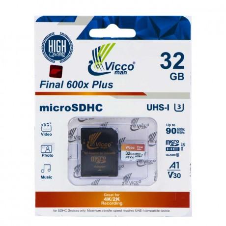 رم میکرو 32 گیگ ویکومن Vicco Final U3 A1 90MB/s با خشاب