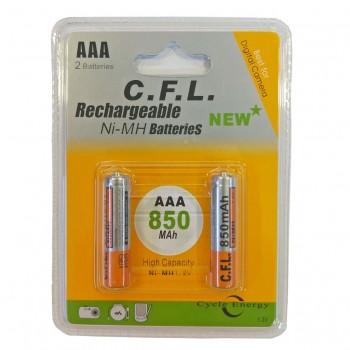 باتری نیم قلمی قابل شارژ...